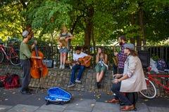 Instrumentale kunstenaars Royalty-vrije Stock Foto's