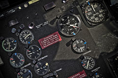 Instrumentation helicopter. With various indicators and flight instruments Stock Images