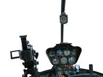 Instrumentbräda av helikoptern royaltyfria foton