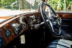 Instrumentbräda av 20HP Rolls Royce Fotografering för Bildbyråer
