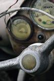 instrumentbrädan ut använder Arkivfoto