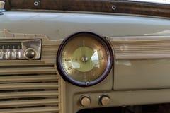 Instrumenten en paneel van de oude Russische auto van uitvoerend cl Royalty-vrije Stock Afbeeldingen