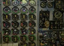 Instrumentenbrett im Flugzeugsimulator Lizenzfreie Stockfotografie