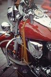 Instrumentenbrett ist klassisches Motorrad Lizenzfreie Stockfotografie