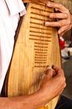 Instrumenterar den kinesiska musikalen för lek pipaen Arkivbilder
