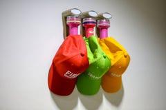 Instrumentet för brandföreståndaren är tre ficklampor och tre lock royaltyfria bilder