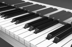 instrumentet keys musikpianot Arkivbilder