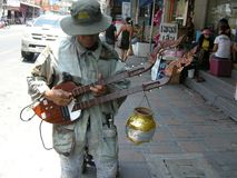 Instrumentista de la guitarra Imagenes de archivo