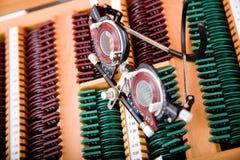 instrumentläkarundersökningoftalmologi arkivfoto