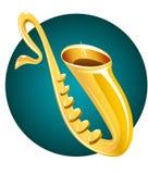 instrumentmusiksaxofon royaltyfri illustrationer