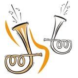 instrumentmusikserie Royaltyfri Foto