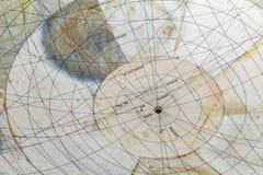 Instrumento astronómico en el observatorio de Jantar Mantar foto de archivo libre de regalías