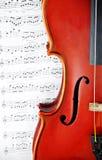 Instrumento clásico de la cadena del violín Fotografía de archivo