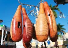 Instrumento cubbean famoso hecho de la fruta Foto de archivo libre de regalías