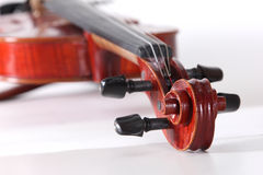 Instrumento da música clássica do violino Foto de Stock Royalty Free