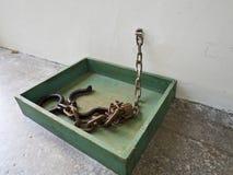 Instrumento de la tortura de Jing-Mei Human Rights Memorial y del culto Fotografía de archivo