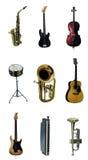 Instrumento de música Imagens de Stock Royalty Free