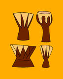 Instrumento de música africano Imagen de archivo
