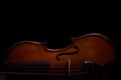 Instrumento de música del violín de la orquesta fotos de archivo libres de regalías
