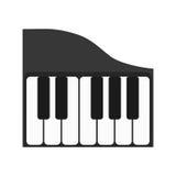 Instrumento de música do piano ilustração royalty free
