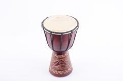Instrumento de música do ritmo do cilindro de Djembe Fotos de Stock Royalty Free