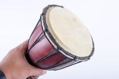 Instrumento de música do ritmo do cilindro de Djembe Fotografia de Stock Royalty Free