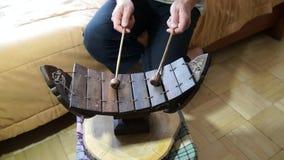 Instrumento de música tailandês tradicional de Ranad Ek Ranat vídeos de arquivo