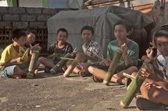 Instrumento de música tradicional do Balinese (kulkul) Fotografia de Stock Royalty Free