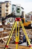 Instrumento de medida, equipo de la total-estación Fotos de archivo