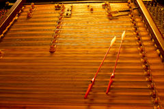 Instrumento de música de la secuencia de Cimbalom Fotografía de archivo