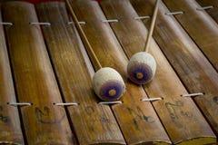 Instrumento de música tailandês de Ásia do xilofone do alto Fotos de Stock Royalty Free