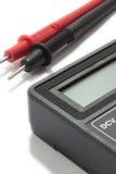 Instrumento do multímetro com fios no fundo branco Imagem de Stock Royalty Free