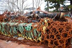 Instrumento e redes da pesca Fotos de Stock