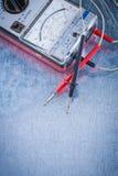 Instrumento eléctrico del constructi vertical de la versión de la medida Fotografía de archivo libre de regalías