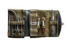 Instrumento médico antigo caso que Fotos de Stock