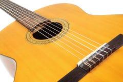 Instrumento musical acústico de la guitarra Fotos de archivo libres de regalías