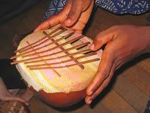 Instrumento musical africano Imagen de archivo