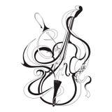Instrumento musical da ilustração abstrata do vetor Foto de Stock