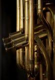 Instrumento musical de cobre amarillo Imagen de archivo