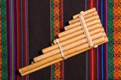Instrumento musical del viento andino Foto de archivo