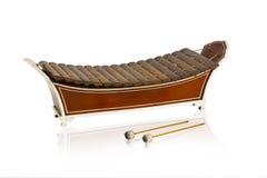 Instrumento musical del xilófono de madera tailandés imagen de archivo