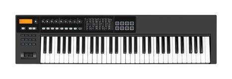 Instrumento musical - fundo branco isolado teclado de MIDI imagens de stock
