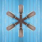 Instrumento musical - Star o guita acústico da doze-corda do headstock imagens de stock royalty free