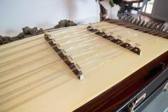 Instrumento musical tradicional do saltéro tailandês de madeira Fotografia de Stock Royalty Free