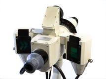 Instrumento para a medida da visão isolada no fundo branco fotografia de stock
