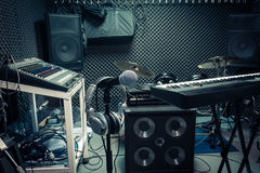 Instrumento para o conceito do músico ou do produtor fotografia de stock