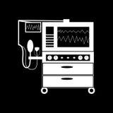 Instrumento para a tecnologia médica da ventilação do pulmão Fotos de Stock Royalty Free
