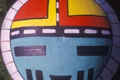 Instrumento pintado à mão do Hopi no close-up apertado em Taos, nanômetro imagem de stock royalty free