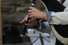 Instrumento típico dos povos celtas foto de stock