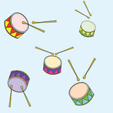 Instrumento, tambores ilustración del vector